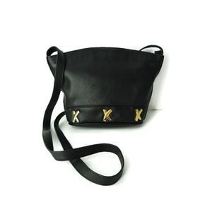 Paloma Picasso Italy black leather cross-body bag